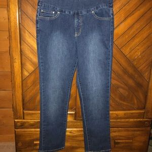 Jag jean denim size 8 - hemmed to fit 5 ft ht